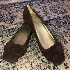 New Talbots genuine suede shoes